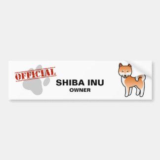 Shiba Inu Red Bumper Sticker