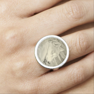 Shiba Inu Ring Dog Lover Rings Guard Jewelry