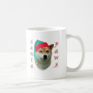 Shiba Inu Santa Paws Classic White Coffee Mug