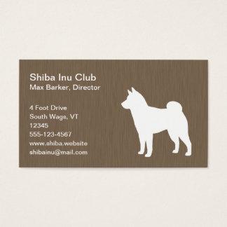 Shiba Inu Silhouette Business Card