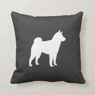 Shiba Inu Silhouette Throw Pillow