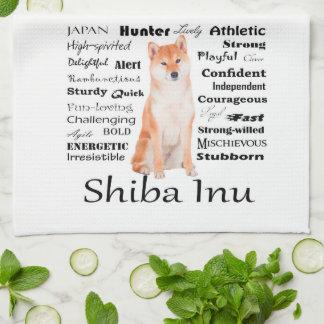 Shiba Inu Traits Kitchen Towel
