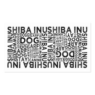Shiba Inu Typography Business Cards