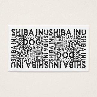 Shiba Inu Typography Business Card