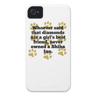 Shiba Inus Are A Girl's Best Friend iPhone 4 Cases