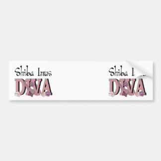 Shiba Inus DIVA Bumper Sticker