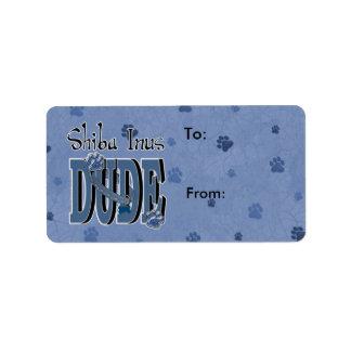 Shiba Inus DUDE Label