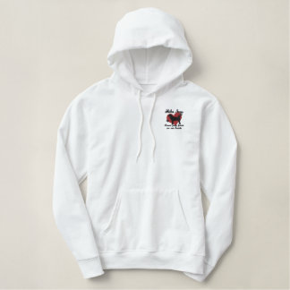 Shiba Inus Leave Paw Prints Embroidered Hoodie