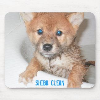 Shiba limpio tapete de raton