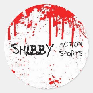 SHIBBY ACTION SPORTS STICKER