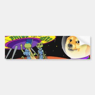 Shibe Doge Astro and the Aliens Memes Cats Cartoon Bumper Sticker