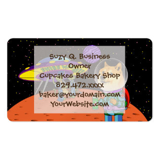 Shibe Doge Astro and the Aliens Memes Cats Cartoon Double-Sided Standard Business Cards (Pack Of 100)