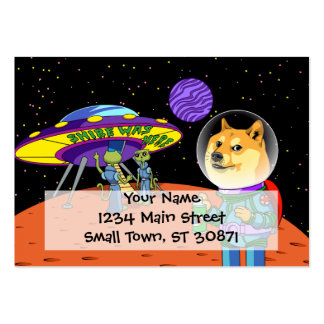 Shibe Doge Astro and the Aliens Memes Cats Cartoon Large Business Cards (Pack Of 100)