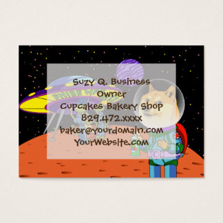Shibe Doge Astro and the Aliens Memes Cats Cartoon Business Card