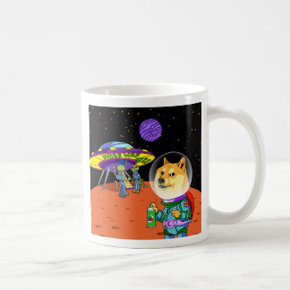 Shibe Doge Astro and the Aliens Memes Cats Cartoon Coffee Mug