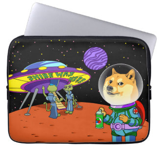 Shibe Doge Astro and the Aliens Memes Cats Cartoon Computer Sleeve