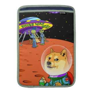 Shibe Doge Astro and the Aliens Memes Cats Cartoon Sleeves For MacBook Air