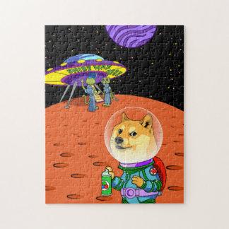 Shibe Doge Astro and the Aliens Memes Cats Cartoon Jigsaw Puzzle