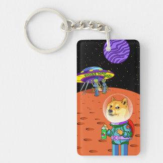 Shibe Doge Astro and the Aliens Memes Cats Cartoon Keychain