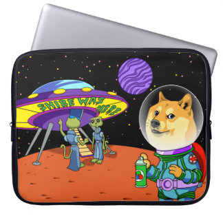 Shibe Doge Astro and the Aliens Memes Cats Cartoon Laptop Computer Sleeves