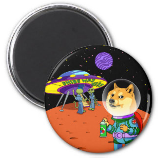 Shibe Doge Astro and the Aliens Memes Cats Cartoon Magnet