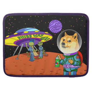 Shibe Doge Astro and the Aliens Memes Cats Cartoon Sleeve For MacBook Pro