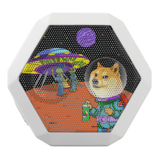 Shibe Doge Astro and the Aliens Memes Cats Cartoon White Bluetooth Speaker