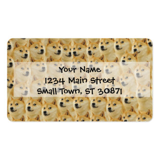 shibe doge fun and funny meme adorable business card