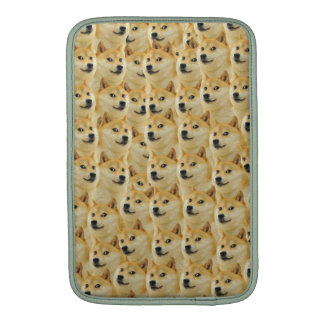 shibe doge fun and funny meme adorable sleeve for MacBook air