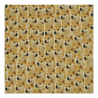 shibe doge fun and funny meme adorable poster