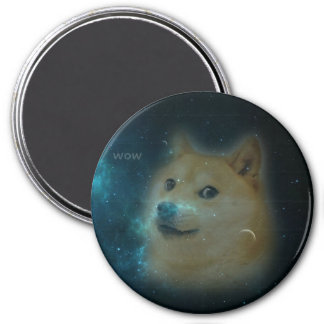 shibe doge in space 3 inch round magnet