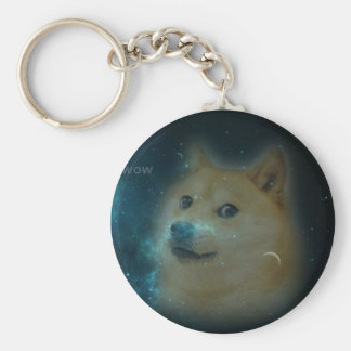 shibe doge in space basic round button keychain