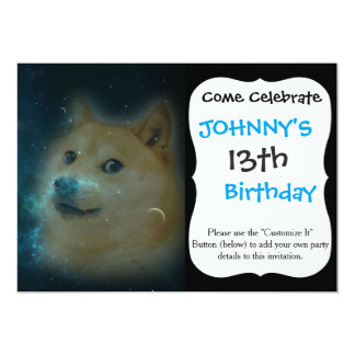 shibe doge in space card