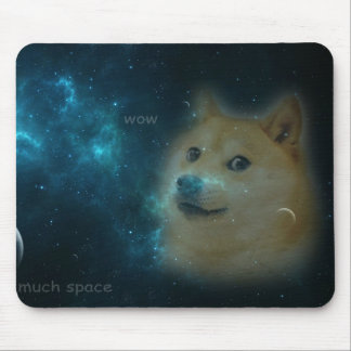 shibe doge in space mouse pad