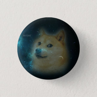 shibe doge in space pinback button