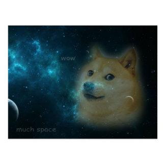shibe doge in space postcard