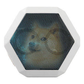 shibe doge in space white bluetooth speaker