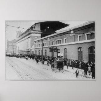 Shibe Park Philadelphia, Waiting for Baseball Game Poster