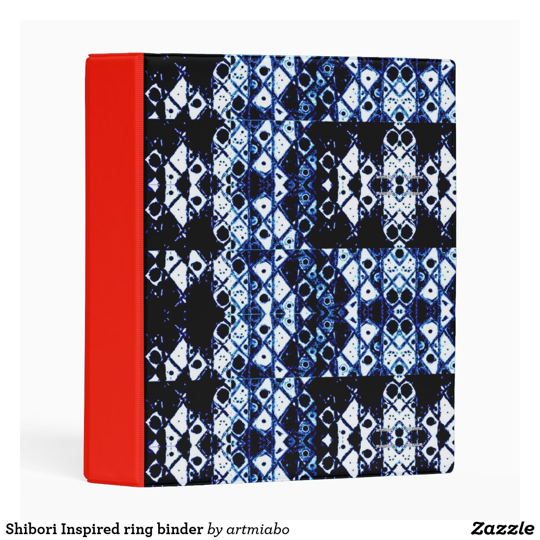 Shibori Inspired ring binder