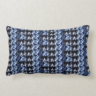 Shibori inspired throwpillow
