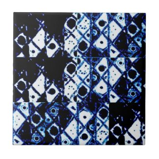 Shibori Inspired Tile