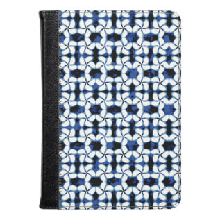 Shibori Kumo Navy Blue Tile Dark Tiling Watercolor Kindle Case at Zazzle