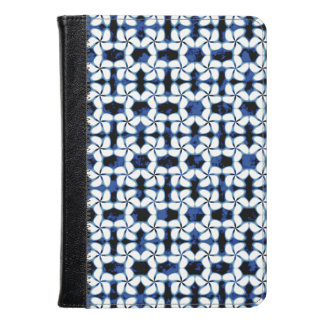 Shibori Kumo Navy Blue Tile Dark Tiling Watercolor Kindle Case