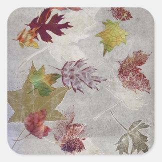 Shibori Leaves Square Sticker