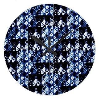 Shibori Round Clock