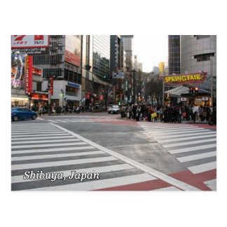 Shibuya 109 crosswalks postcard
