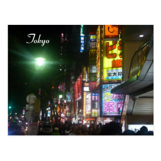 shibuya neon lights postcard