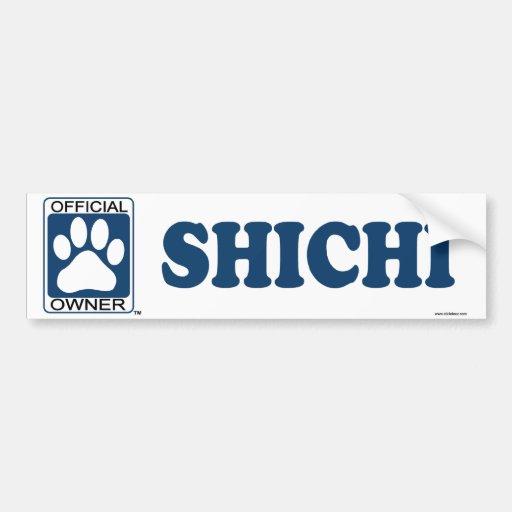 SHICHI_blue Etiqueta De Parachoque