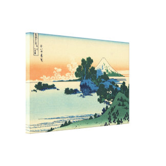 Shichiri beach in Sagami province by Hokusai Canvas Print
