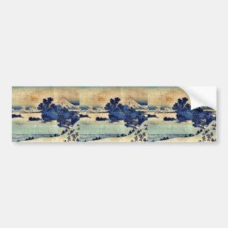 Shichiriga de Soshu por Katsushika, Hokusai Ukiyoe Pegatina Para Auto